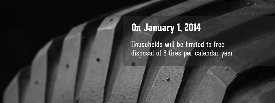 Free Disposal of 8 Tires Per Year