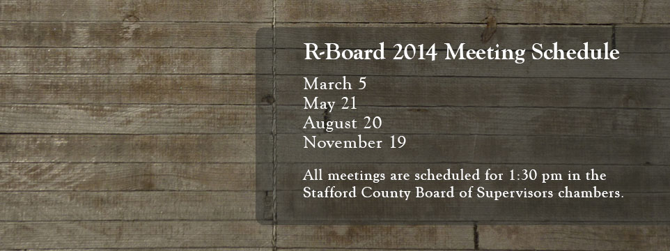 R-Board 2014 Meeting Schedule