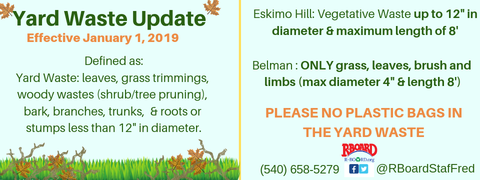 Yard Waste Update – Effective January 1, 2019