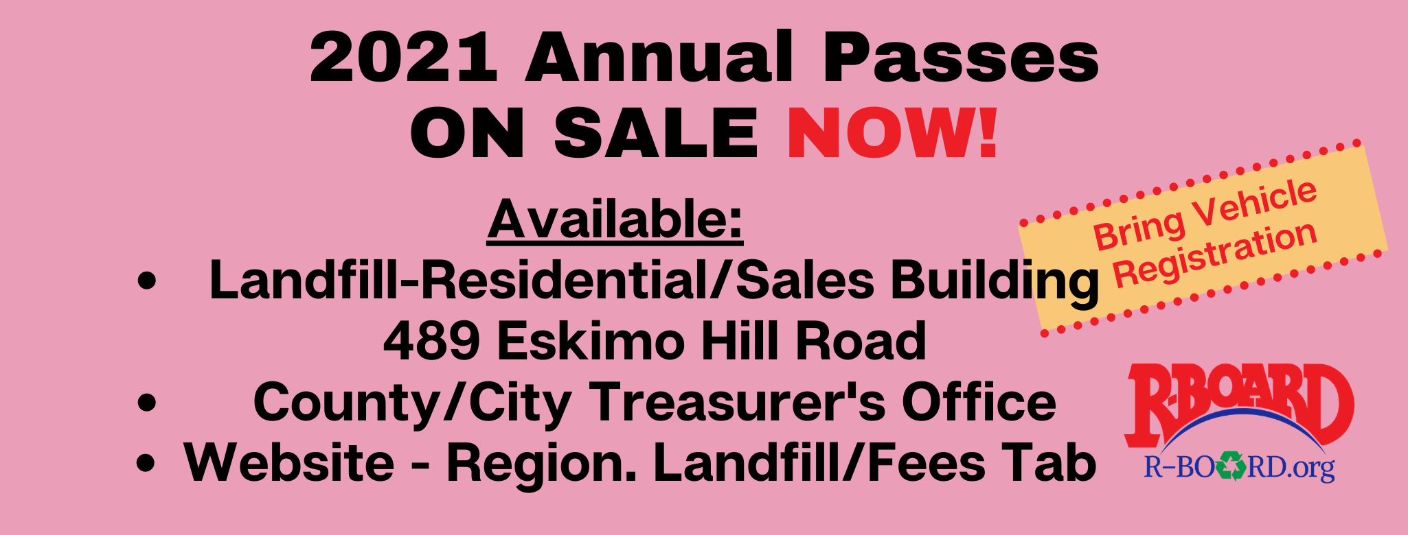 2021 Annual Passes On Sale Now